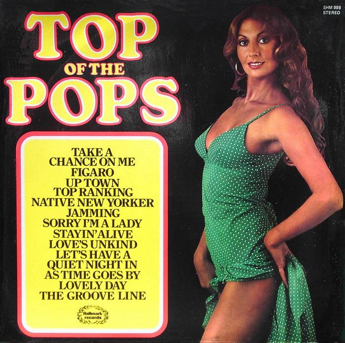 Modeling on a 'Top of the Pops' record.