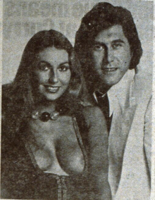 Marilyn Cole and Bryan Ferry, c. 1973.