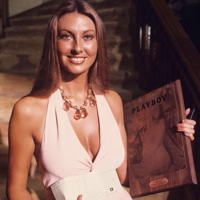 Celebrating at the Playboy mansion in June 1973.