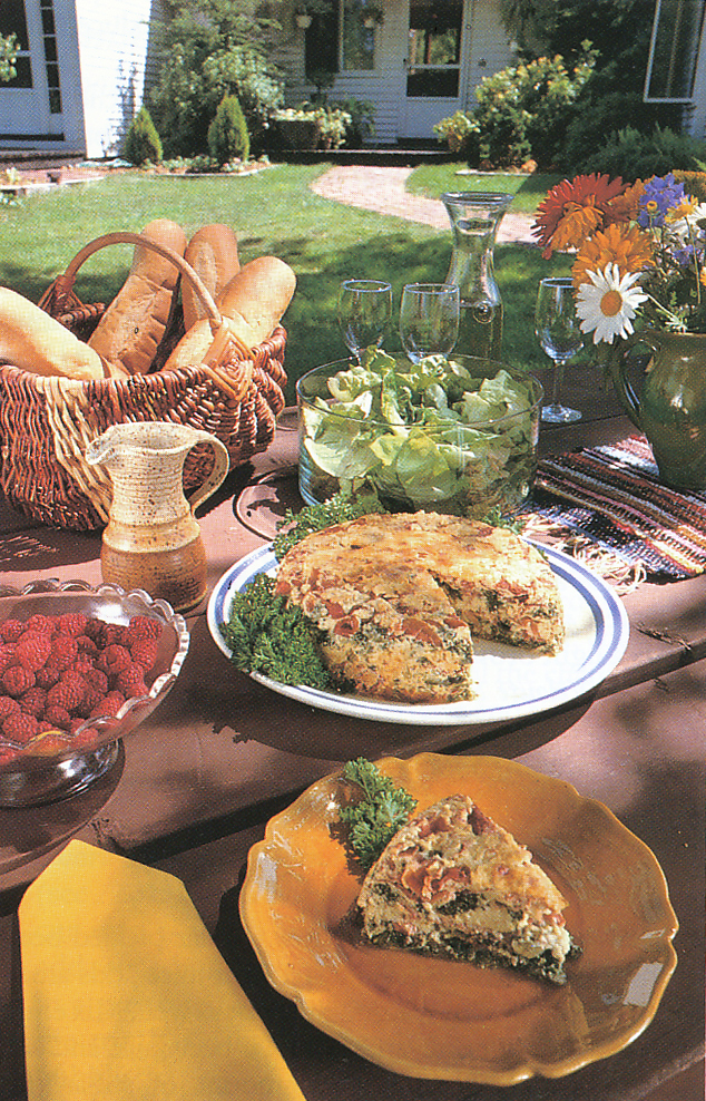 A summer feast from the garden. From 'The Victory Garden Cookbook', 1982.