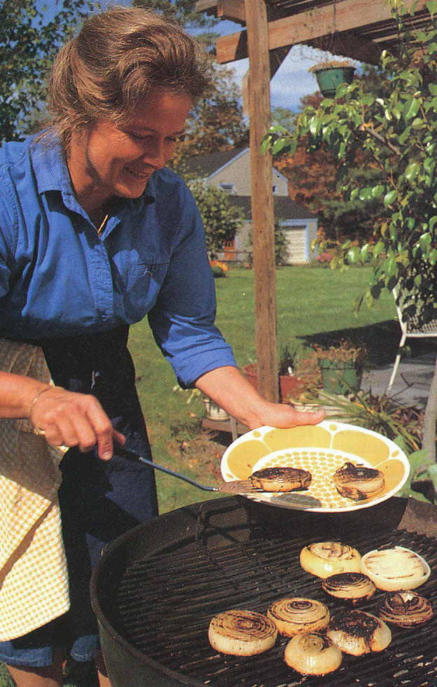 And grilling onions. From 'The Victory Garden Cookbook', 1982.