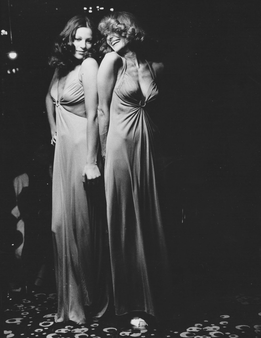 "In 1971 Mia left fashion, and Vicky rebranded ""Mia-Vicky"" as ""Vicky Tiel."" This ""bra-dress"" was part of the premier collection under that label."