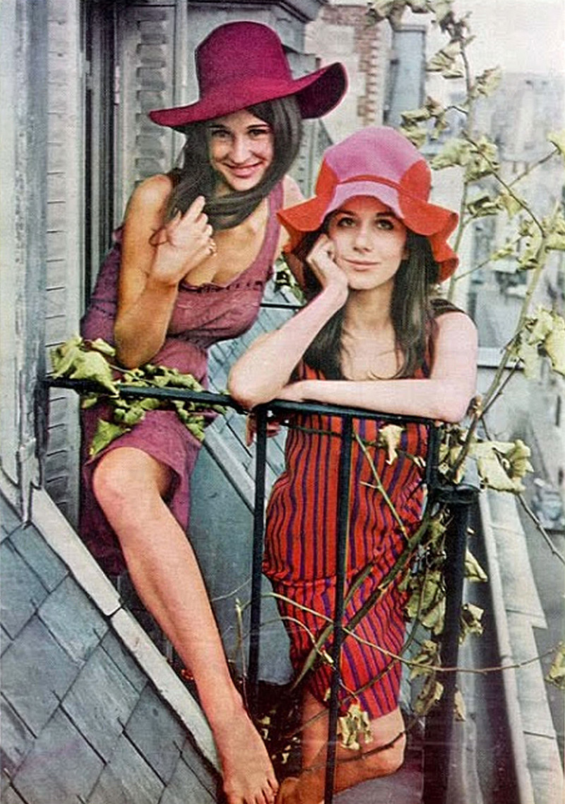 Mia Fonssagrives and Vicky Tiel were featured in Life Magazine in 1965 as young Americans taking Paris by storm.