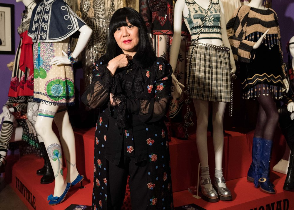 Anna Sui at the retrospective show of her designs at the Fashion & Textile Museum in London, 2017.