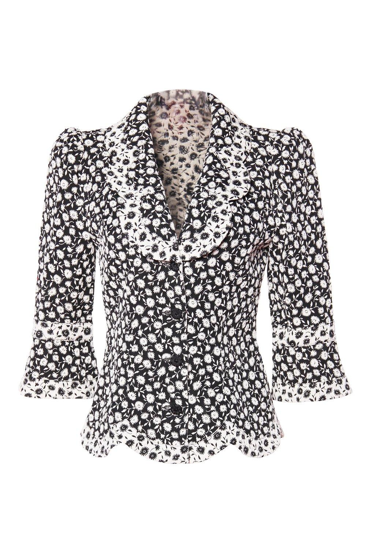 Midnight Daisy Jacquard Jacket $697