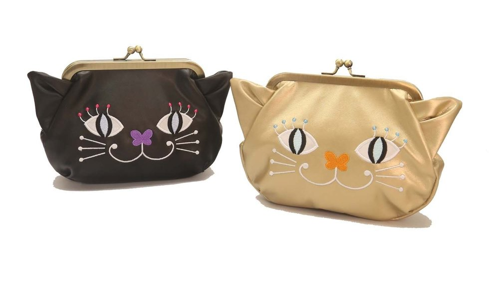 Cat Pouch With Kiss Lock $50