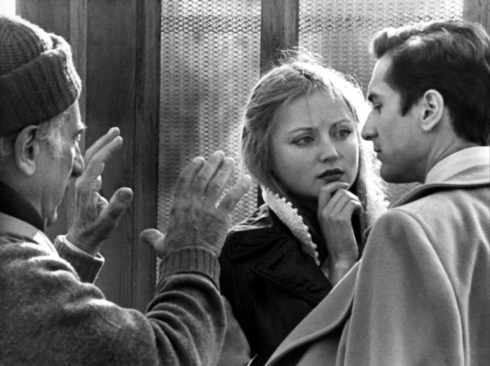 Elia Kazan directing Ingrid Boulting and Robert DeNiro in 'The Last Tycoon.'