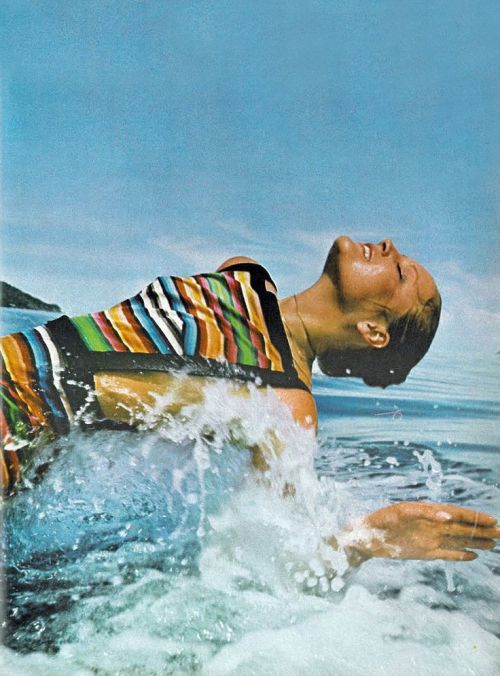 Ingrid Boulting photographed by David Bailey in Fiji for Vogue UK, February 1971.