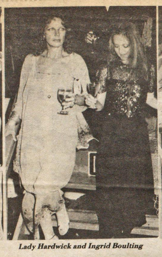 Ingrid at a YSL perfume launch in NYC. Photo from WWD, September 22nd, 1978.