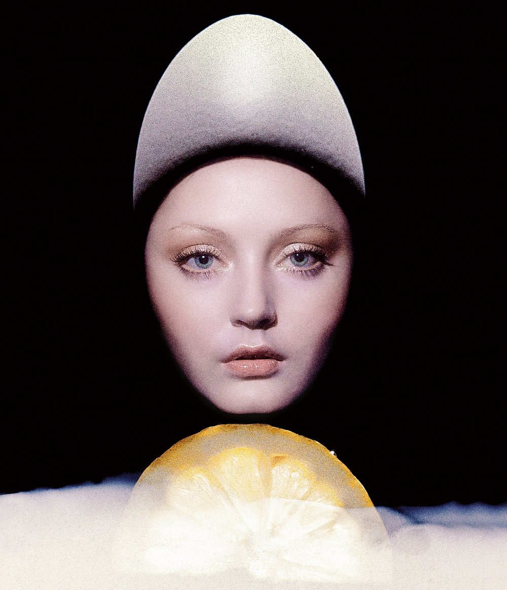 """Beauty Timing"" by Clive Arrowsmith for Vogue UK, April 1973."