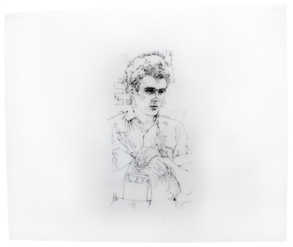 Original title art from the acclaimed 1976 film, 'James Dean.'
