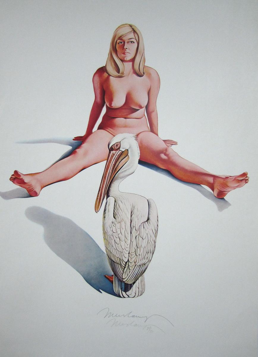 """""""Leta & White Pelican,"""" 1969."""