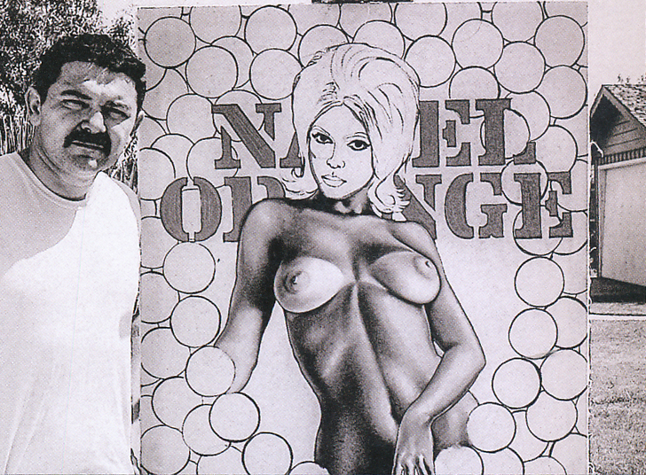 "Mel with ""Miss Navel Orange #2,"" 1964."