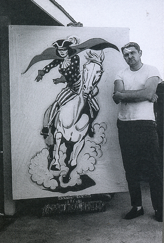 "Mel with ""Miss Liberty"" at his Sacramento studio, 1963."