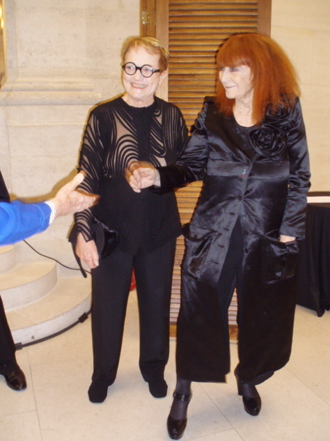Marylou and Sonia Rykiel after the Chevalier of the Order of Arts and Letters ceremony in 2008.