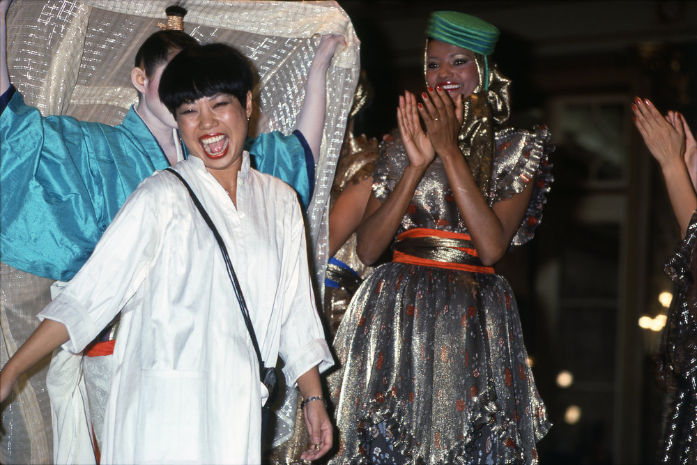 Hiroko Koshino after her triumphant show at Alta Moda in Rome, 1978. Courtesy of Hiroko Koshino.