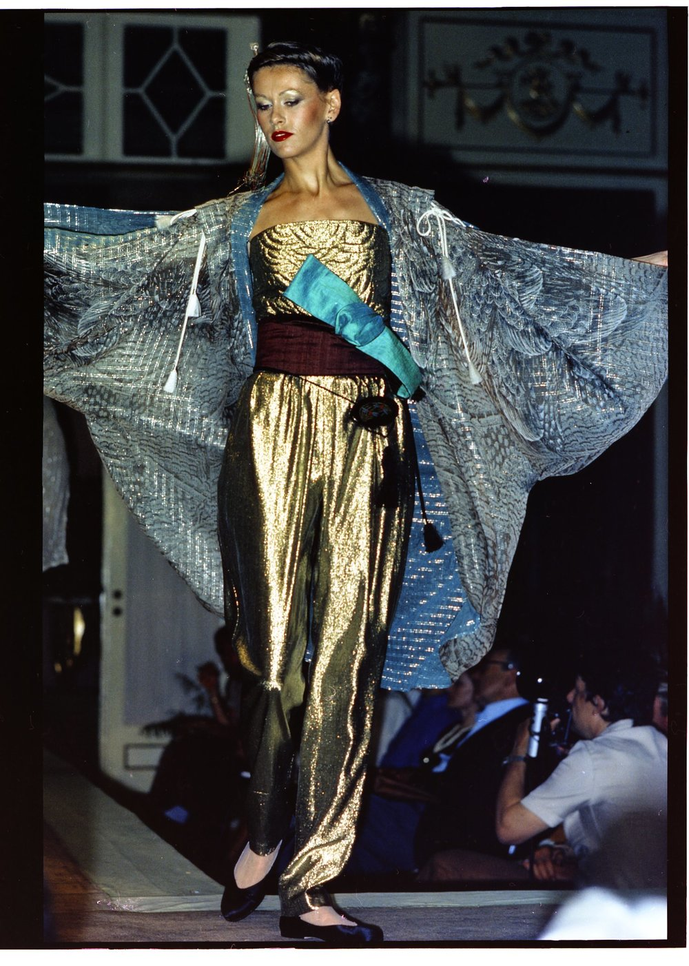 Showing in Rome at Alta Moda, 1978. Courtesy of Hiroko Koshino.