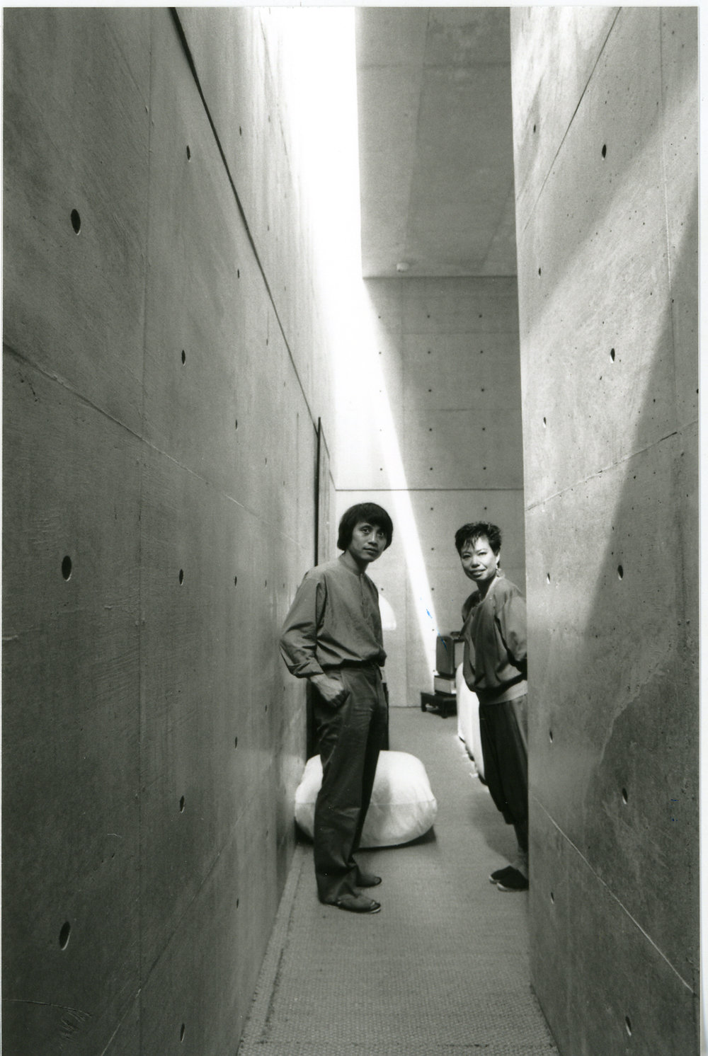 Tadao Ando and Hiroko Koshino in the Koshino House, the home he built for her. Courtesy Tadao Ando Architect & Associates.