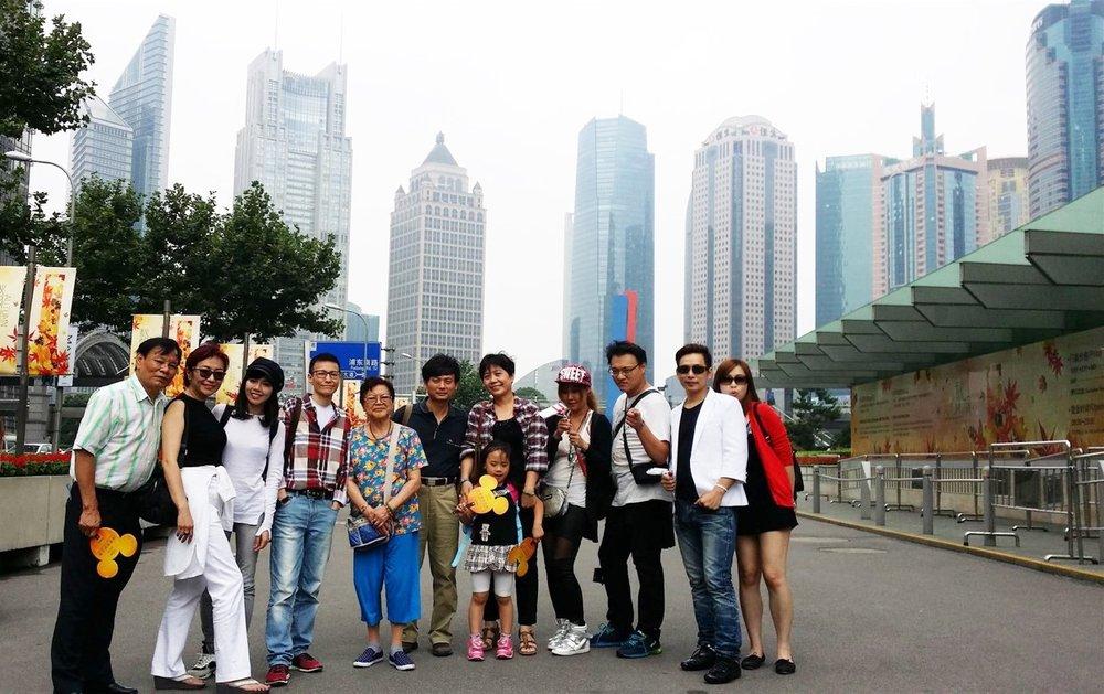 汎宸台灣總部員工每年舉辦國外員旅,攝於上海