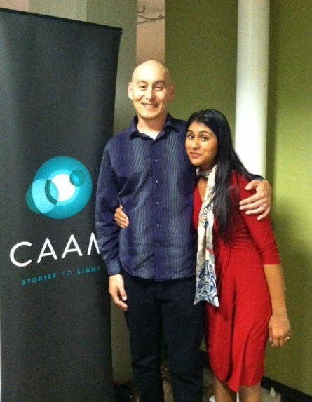 "My wife Meena and I at the Center for Asian American Media screening of my documentary ""Don't Lose Your Soul"""