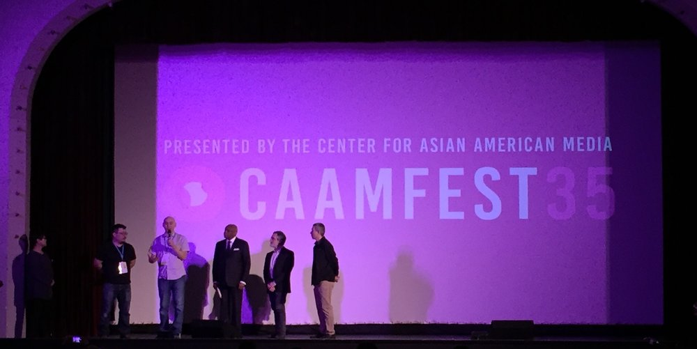 Q&A at the CAAMFest 2017 screening of The People's Hospital with Co-Director Jim Choi, Former SF Mayor Willie Brown, current SF Supervisor Aaron Peskin, and Producer Don Young.