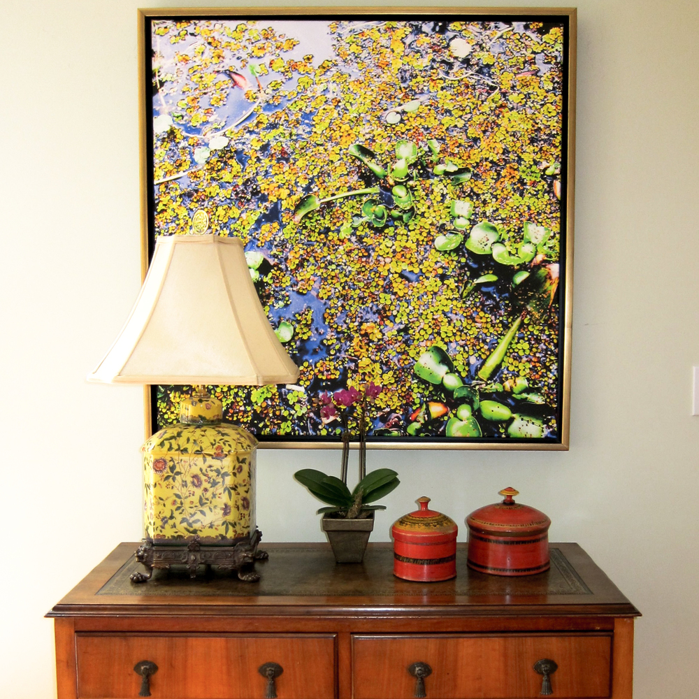 Duckweed, from the Acadian Wetlands series, brings the beauty of the marsh into a luxurious home.