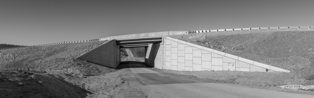 Highway overpass I-69 south of Bloomington, IN