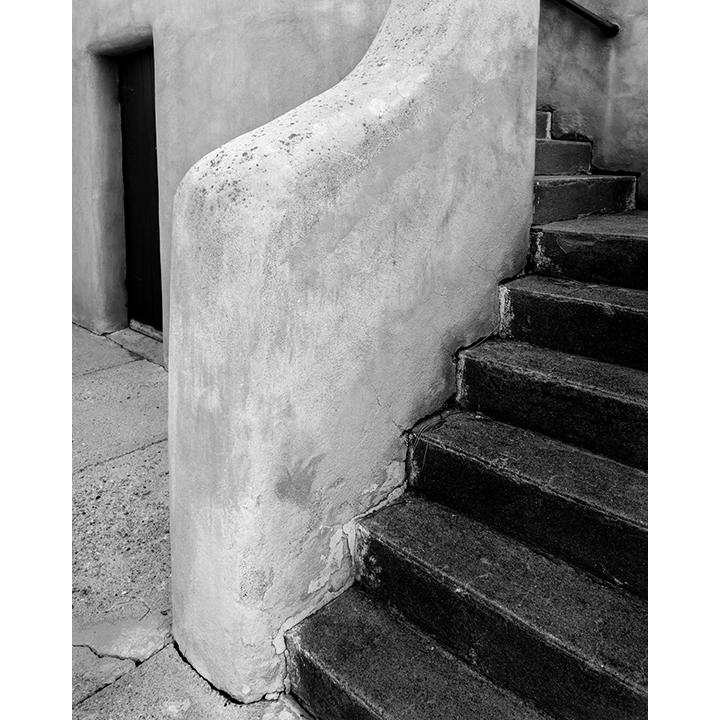 Adobe Staircase. Santa Fe, New Mexico.