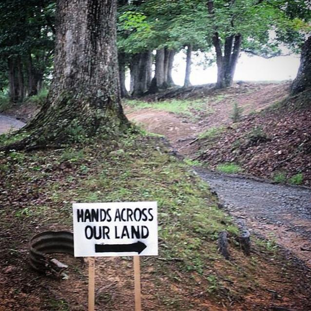 Monroe County #HandsAcrossOurLand signs on the way to the venue! Join us TODAY!
