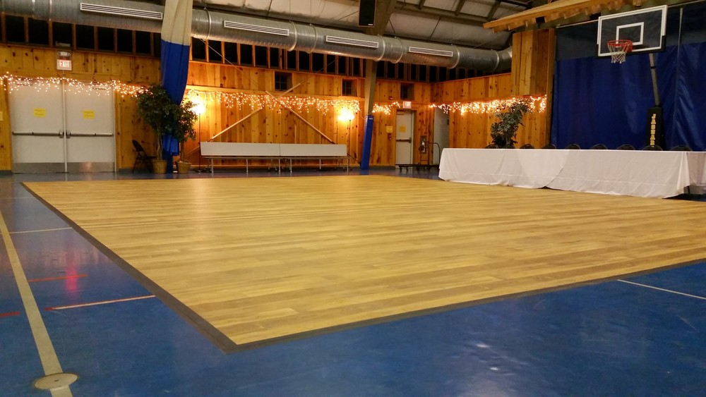 Dance floor without subfloor