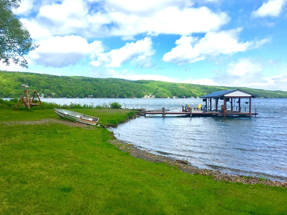 ONCE-IN-A-LIFE-TIME KEUKA LAKE PRIVATE POINT  778 EAST LAKE RD, BARRINGTON, NY, 14837   $1,100,000         This is a once in a lifetime chance to remodel or build a trophy estate on over 4 shoreline level acres on the most prestigious and desirable street on Keuka lake. This property is secluded and serene boasting park-like grounds with towering trees. The ideal location to create Keuka lake's newest historic estate.