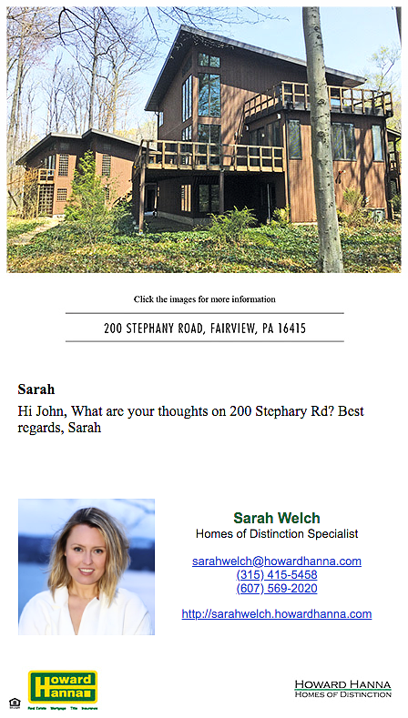 eCard, Howard Hanna, Homes of Distinction, Sarah Welch.png