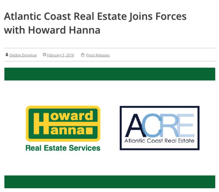 Press, Atlantic Coast Real Estate, Howard Hanna, Sarah Welch.png