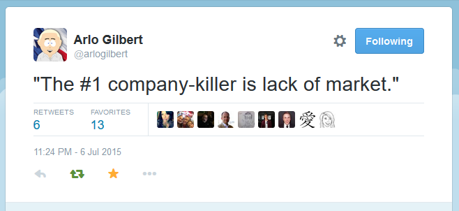 Tweet by Arlo Gilbert