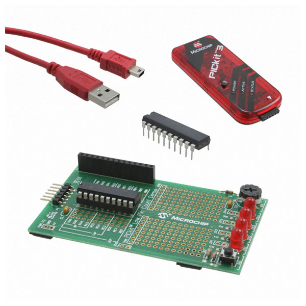 The PICKit 3 starter kit. Comes with 2 micros, the programmer, and a handy breakout board.