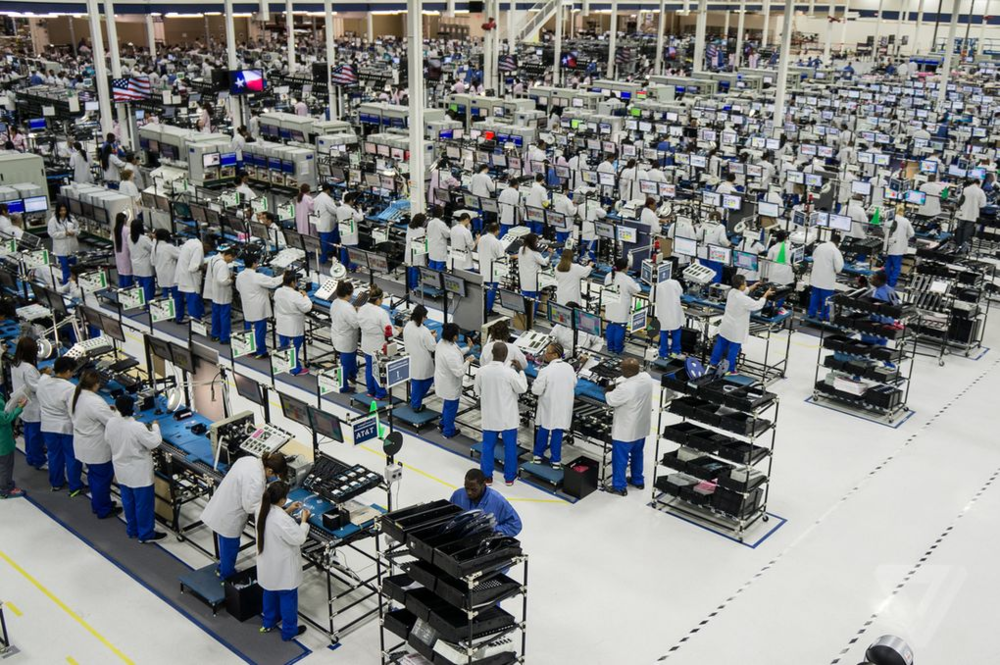 A shot from Motorola's (now shuttered) Moto X assembly factory in Texas (source). Your connected device assembly process won't be quite this complex, but don't underestimate the amount of effort it takes to get it right.