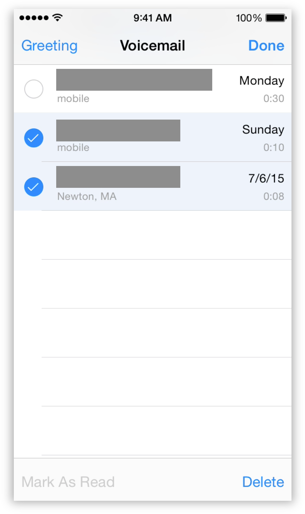 Iphone Voicemail Storage