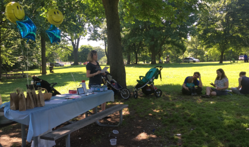 Philadelphia Climb leader Heidi Lengel welcomed participants to the event and gave mamas opportunities to talk about their positive and negative postpartum treatment experiences.