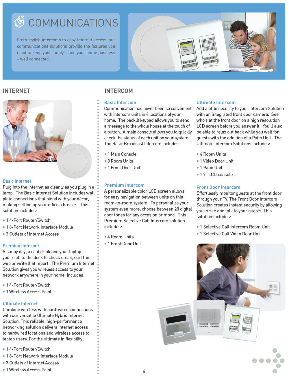 home automation communication brochure
