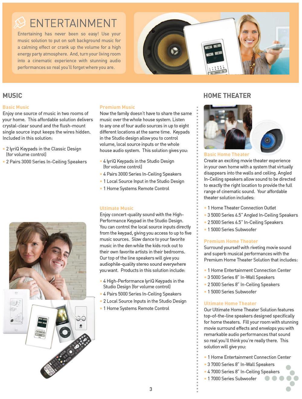 home automation entertainment brochure