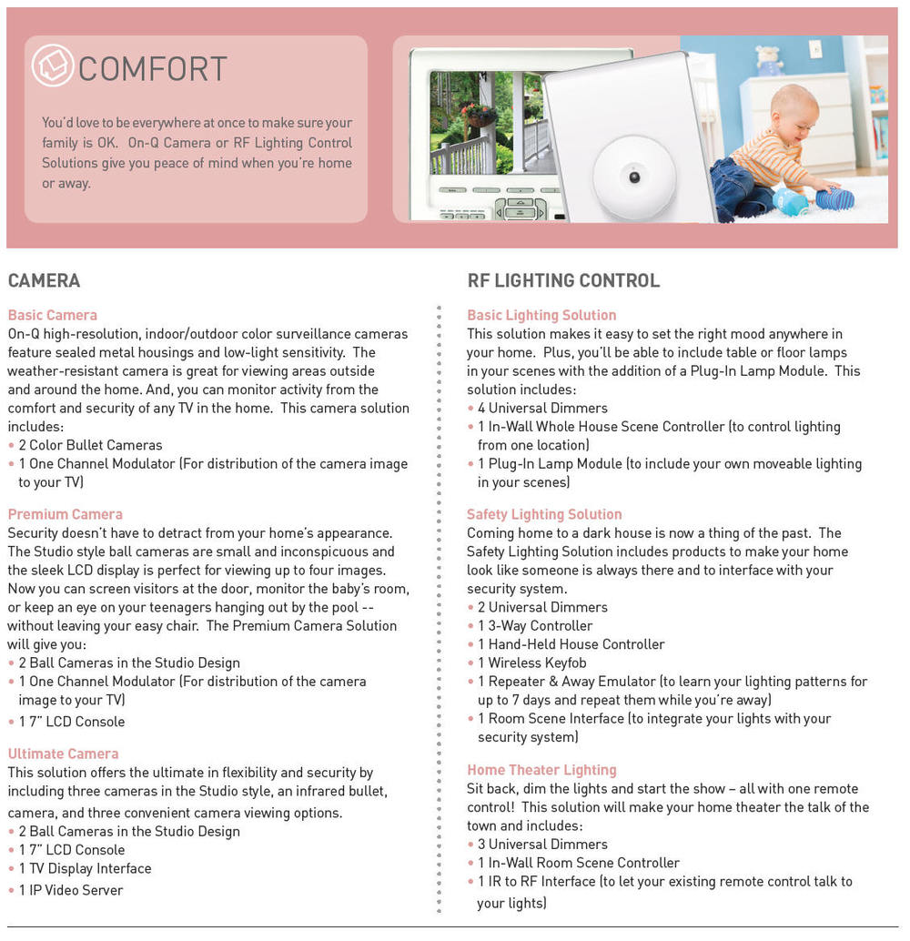 comfort home automation brochure