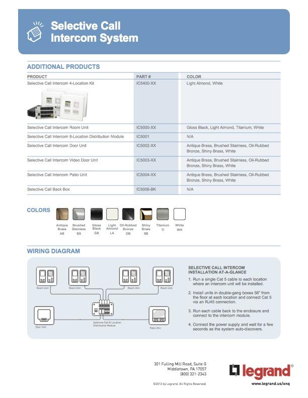 legrand on q product brochure