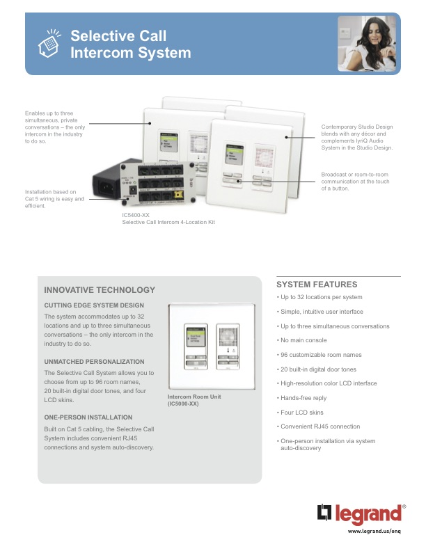 Legrand home automation borchure