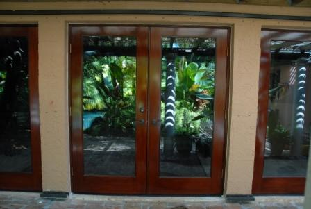 glass paneled french doors