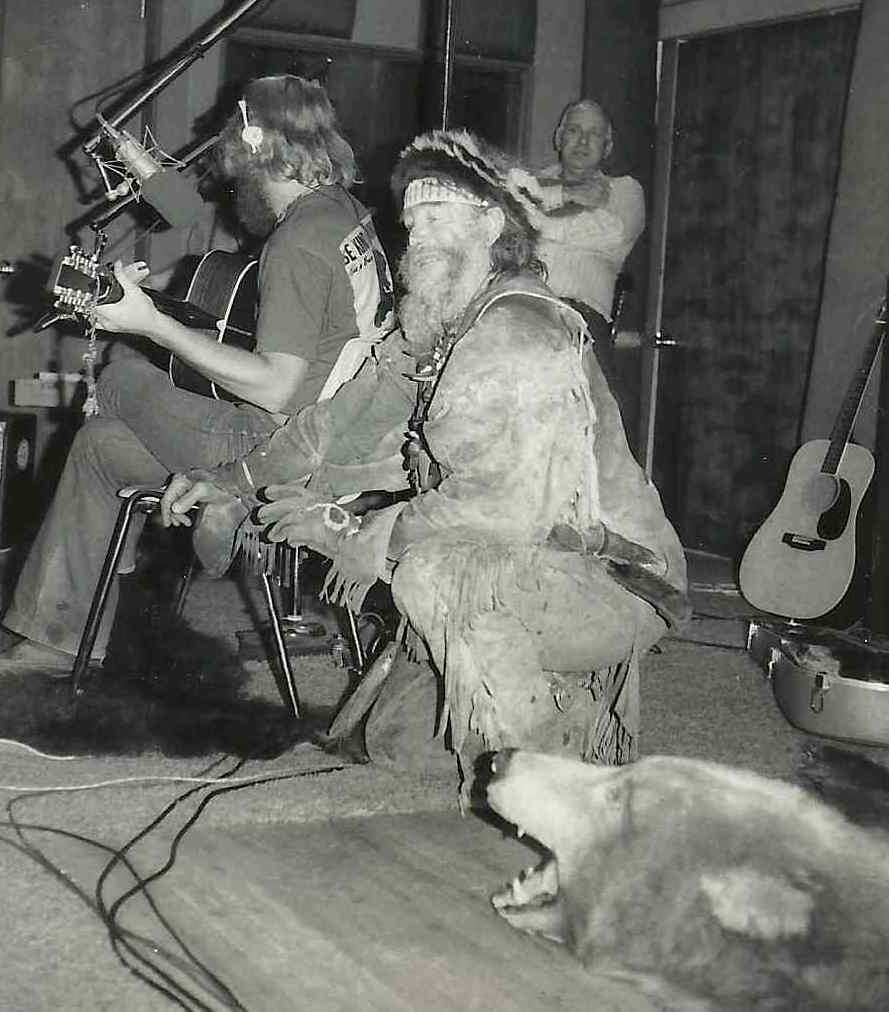 Timberjack Joe by Barry Everett. Austin, Texas, January, 1975 at the debut of Bobby Bridger's one man show of Seekers of the Fleece at the Creek Theater