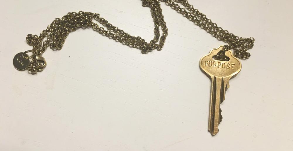 a custom-made giving key
