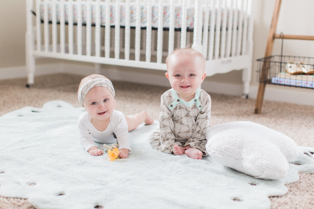 Scallop Lace Rug in Ice // Matching Organic Pajamas // Cloud Floor Cushion