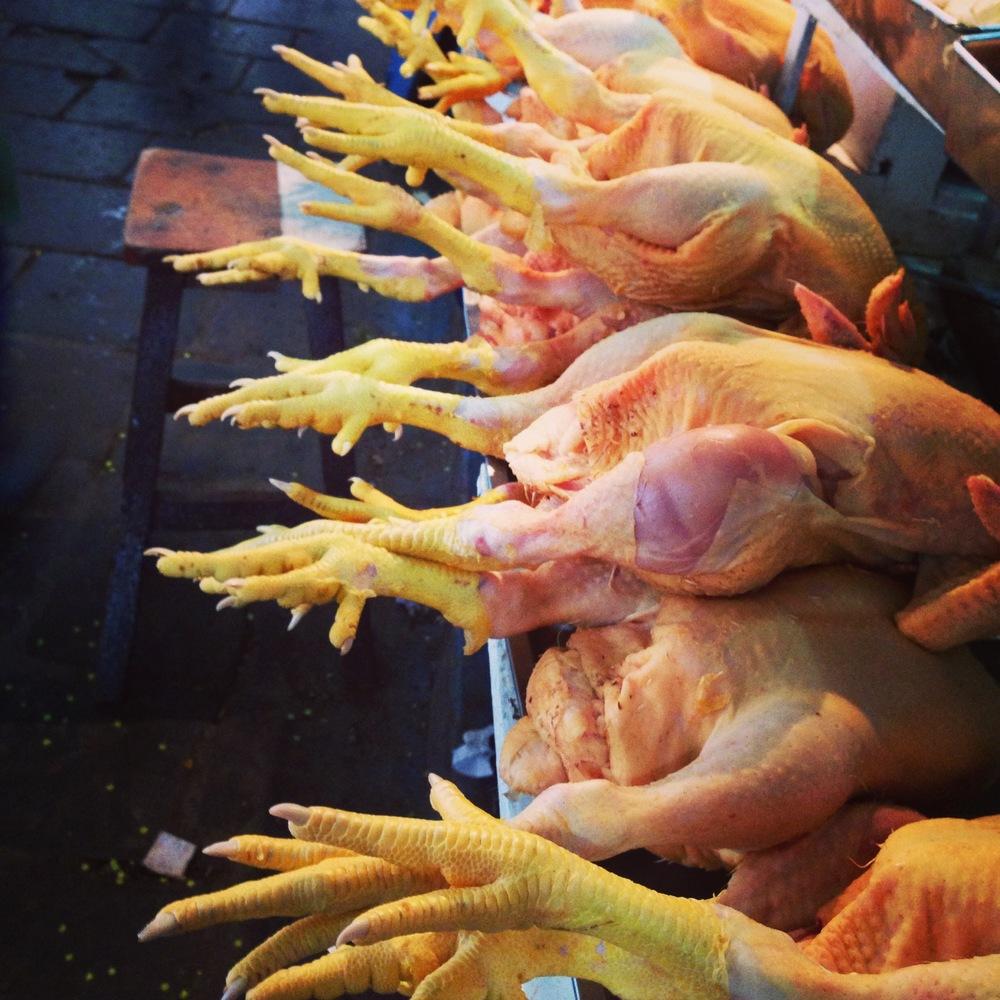 Chicken feet at local market, Cusco Peru - 3 Days*
