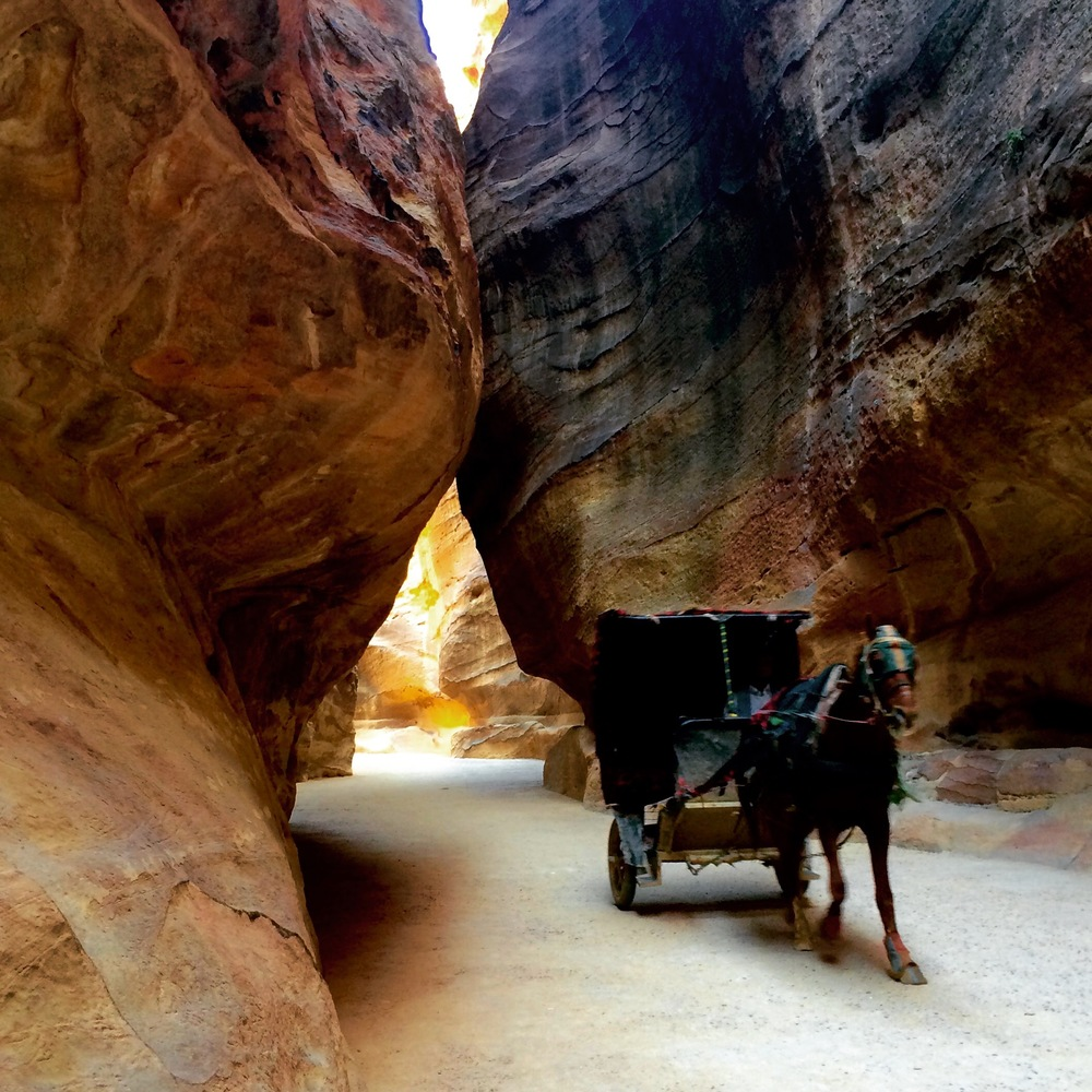 Horse carriage in the Siq, Petra Jordan - 3 Days*