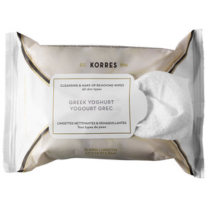 Korres' Greek Yogurt wipes remove stubborn make-up and hydrate at the same time.